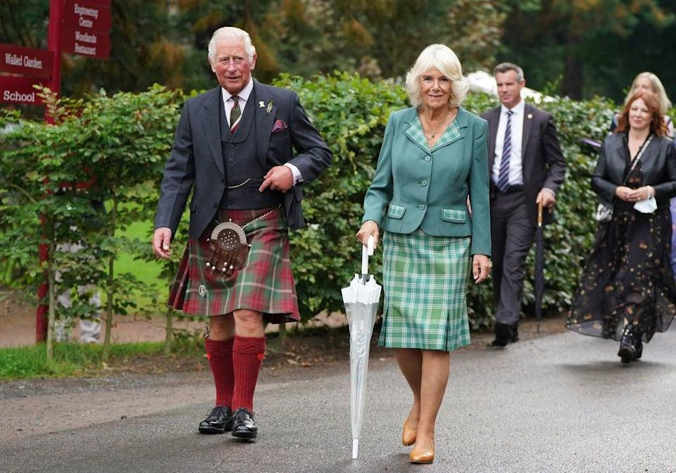 Prince Charles, Prince of Wales and Britain's Camilla, Duchess of Cornwall visit Dumfries House in Cunnock (POOL/AFP via Getty Images)