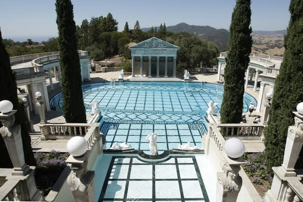 Hearst Castle (The Neptune pool at Hearst Castle, the legendary home built by publishing tycoon William Randolph Hearst in San S