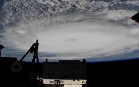 A screen grab from a handout video made available by NASA taken from the International Space Station (ISS) showing Hurricane Dorian - Credit: NASA HANDOUT/EPA-EFE/REX
