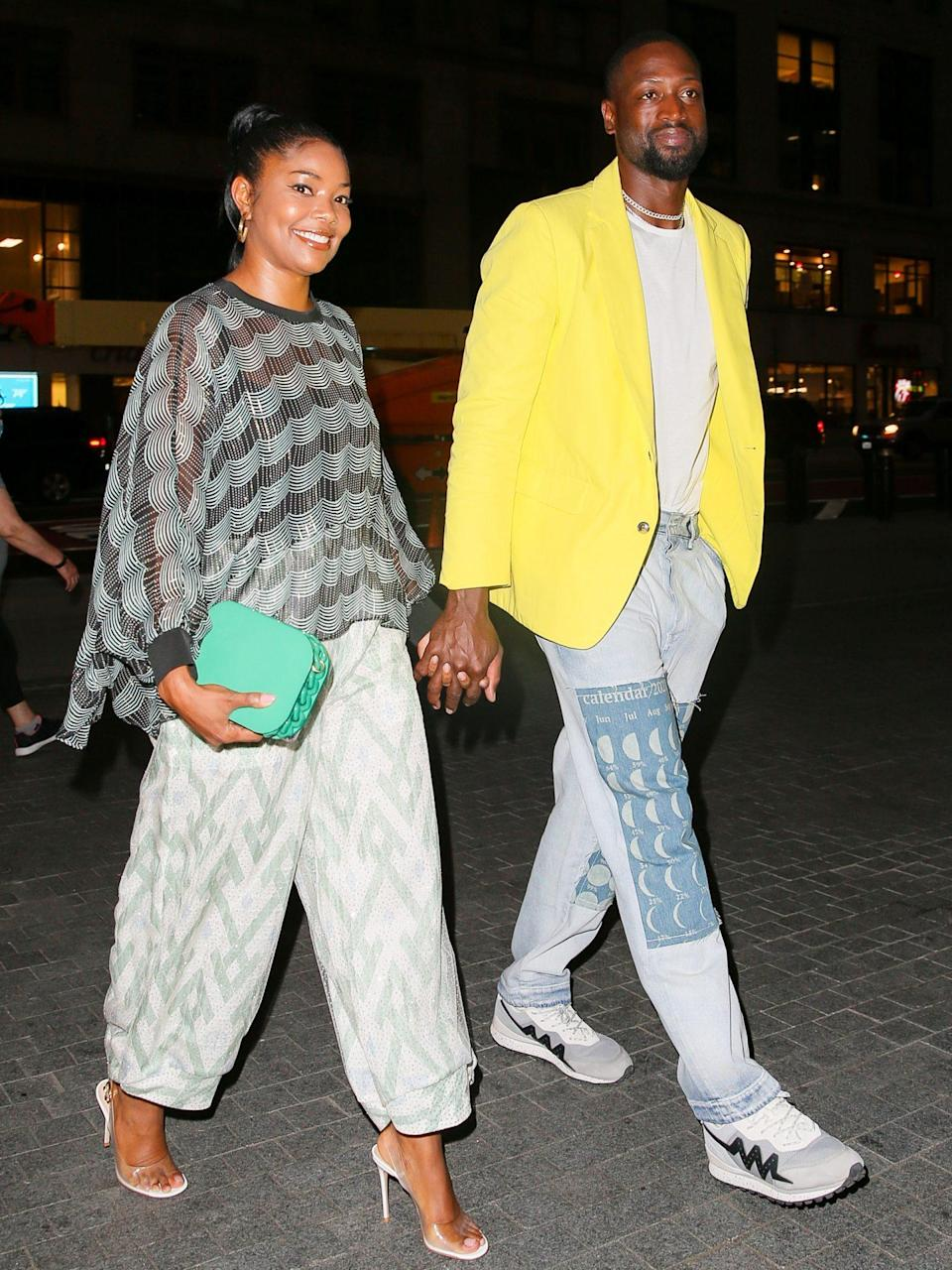 <p>Gabrielle Union and Dwyane Wade dress up for date night at Le Pavillon in N.Y.C.</p>
