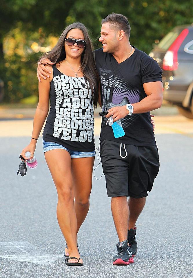 """After spending """"Jersey Shore's"""" early episodes cuddled up like an old married couple, Sammi """"Sweetheart"""" Giancola and Ronnie Magro's drama-filled relationship has definitely been put to the test in season 2. Do you think they'll make it? Wagner Az/<a href=""""http://www.pacificcoastnews.com/"""" target=""""new"""">PacificCoastNews.com</a> - August 31, 2010"""
