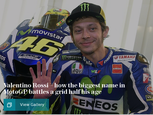 Cars - how Rossi competes with riders half his age
