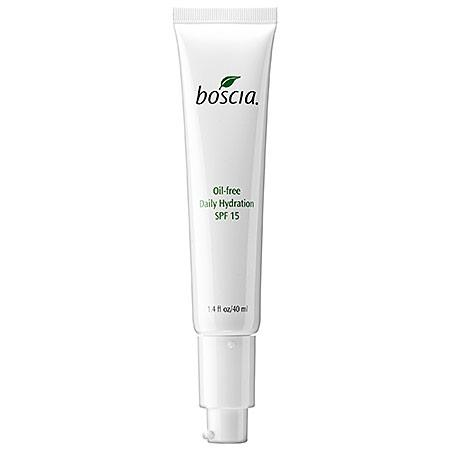 """If you've ever tried Boscia's eye treatment, you know their products mean business when it comes to making your skin look amazing. Pick up this oil-free moisturizer with SPF 15 to protect your skin while making it glow.  <em>Boscia Oil-Free Hydration SPF 15, $36; at<a rel=""""nofollow"""" href=""""http://www.sephora.com/oil-free-daily-hydration-spf-15-P61207?skuId=1161157"""">Sephora</a></em>"""