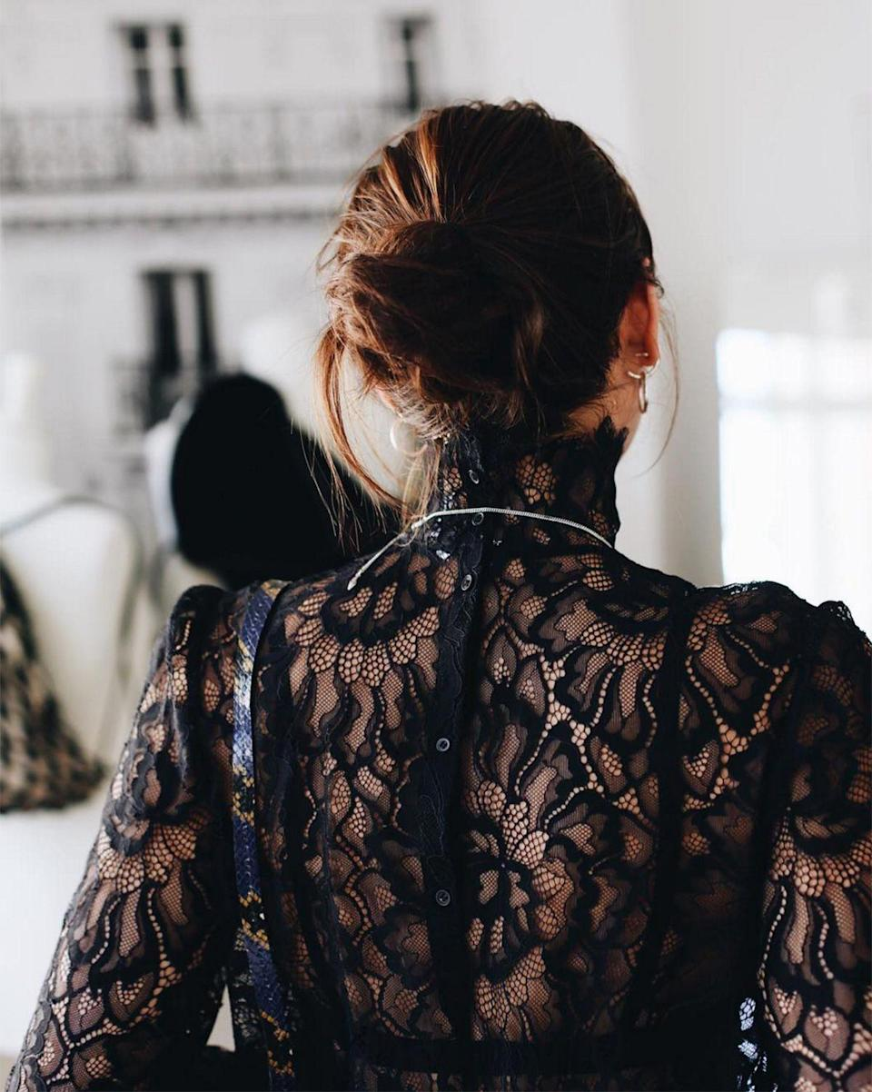 """<p><strong>The Loose Midi</strong></p><p>If top knots aren't for you and a low chignon feels too mature, try a slightly <span>dishevelled mid bun a la model and singer <a href=""""https://www.instagram.com/natalieoffduty/"""" rel=""""nofollow noopener"""" target=""""_blank"""" data-ylk=""""slk:Natalie Suarez"""" class=""""link rapid-noclick-resp"""">Natalie Suarez</a>.</span></p><span class=""""copyright"""">Photo: via @natalieoffduty.</span>"""