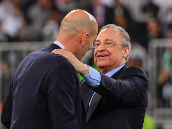 Tebas highlighted Real Madrid president Florentino Perez for criticism (Getty)