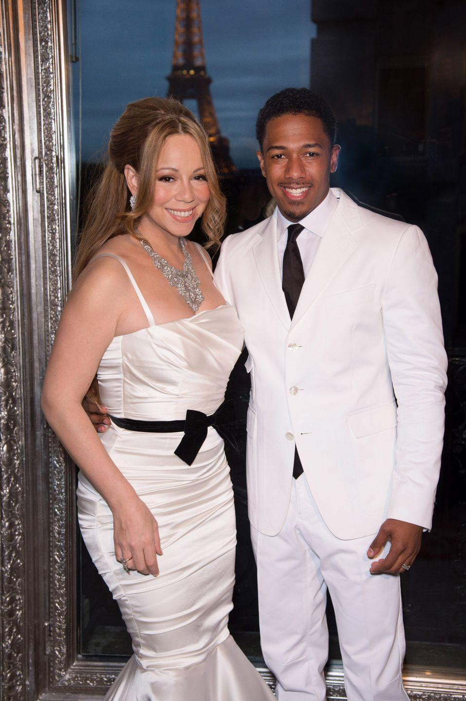 "<p>During their five-year marriage, Mariah Carey and Nick Cannon renewed their vows twice. One of those times involved a magical celebration <a href=""https://www.eonline.com/news/413704/mariah-carey-and-nick-cannon-s-beautiful-disneyland-vow-renewal-find-out-how-much-it-cost"" rel=""nofollow noopener"" target=""_blank"" data-ylk=""slk:at Disneyland."" class=""link rapid-noclick-resp"">at Disneyland.</a> The dreamy nuptials happened after the park closed and reportedly cost $180,000<em>. </em>The couple filed for divorce in 2014. </p>"