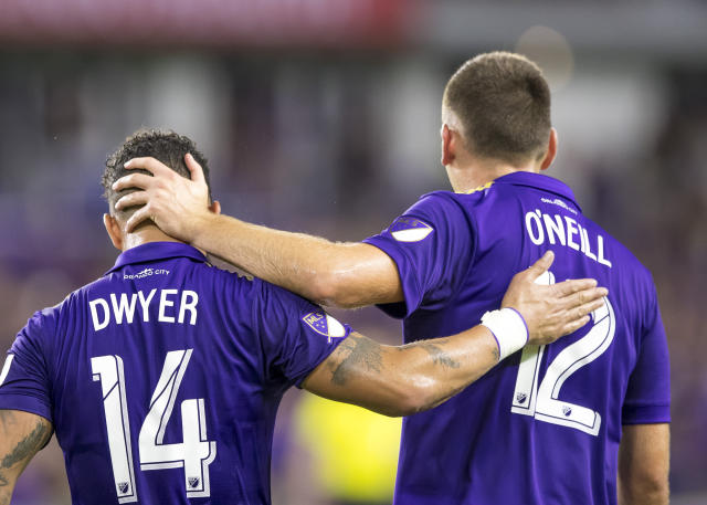 If relegation were at stake, there might be a lot of consoling between Orlando City SC players like Dom Dwyer (14) and Shane O'Neill this season. (Getty)
