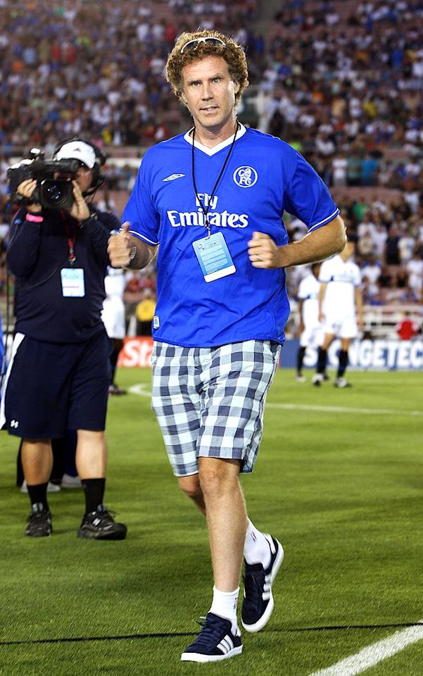 """Will Ferrell was among the many Hollywood stars at the pre-season soccer match between Chelsea and Inter Milan at the Rose Bowl in Pasadena, California. Chris Weeks/<a href=""""http://www.wireimage.com"""" target=""""new"""">WireImage.com</a> - July 21, 2009"""