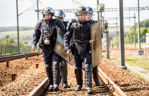 Striking French sailors block Calais port, Channel Tunnel