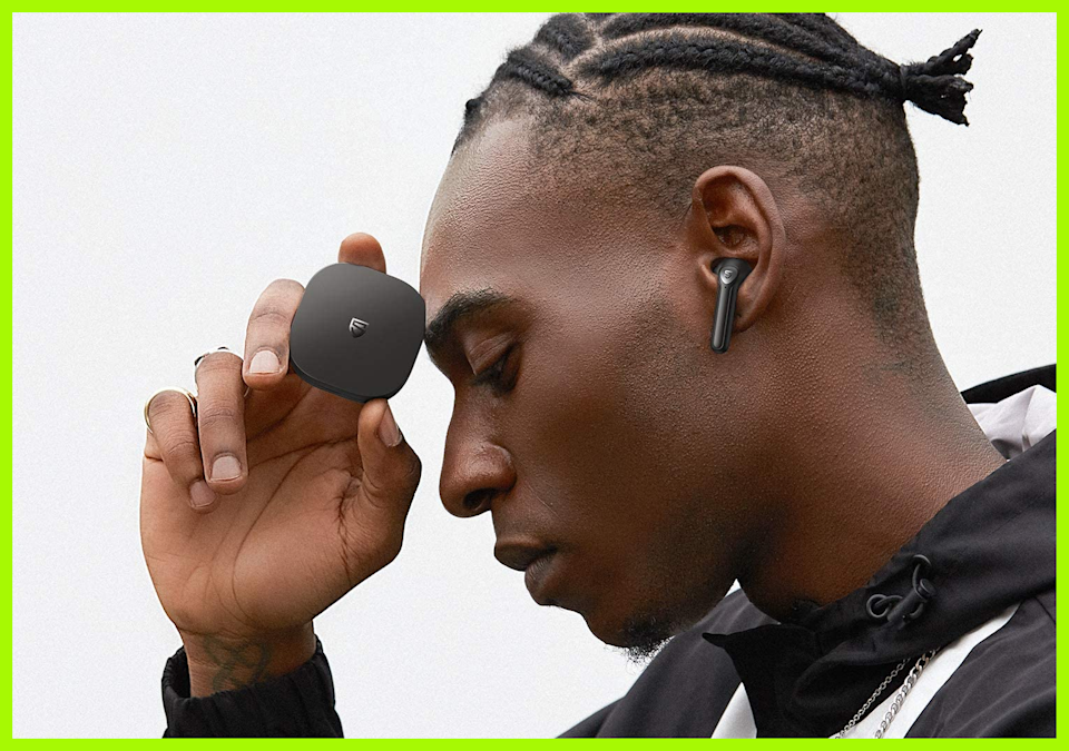 SoundPEATS TrueAir2 wireless earbuds are half gone with promotional code 'C3R7M9GS.'  (Photo: Amazon)