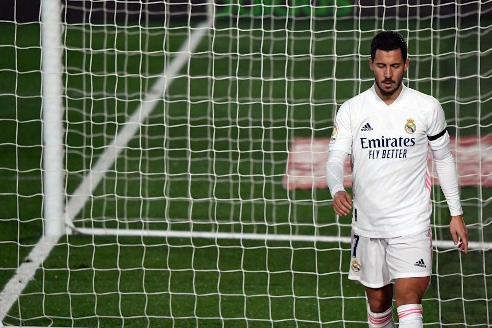 Eden Hazard was injured again for Real Madrid at the weekend (AFP via Getty Images)