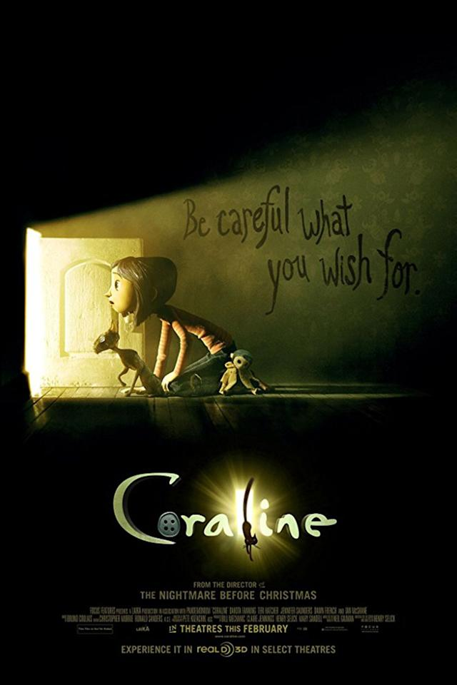 "<p>When 11-year-old Coraline discovers a door in her family's home that takes her to another universe, she at first thinks it's a <em>better </em>world  -  until she learns about its dark secrets. <br></p><p><a rel=""nofollow"" href=""https://www.netflix.com/title/70105599"">STREAM NOW</a></p>"