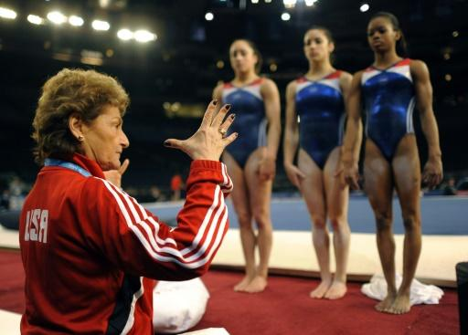 Former USA Gymnastic coaches Bela and Marta Karolyi -- who is seen here speaking with Jordyn Wieber, Aly Raisman and Gabby Douglas in 2012 -- say they never knew Larry Nassar was preying upon the girls