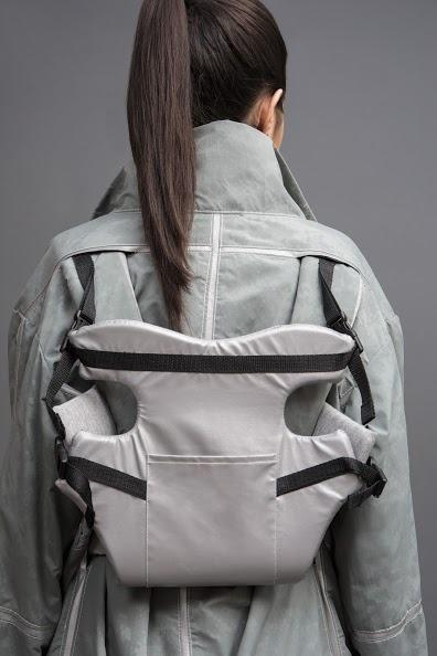 <p>In the midst of relocation, many Syrian families have been separated with their children. This retro-reflective jacket has a removable child carrying harness.<i> [</i><i>Photo: Jessica Richmond]</i></p>