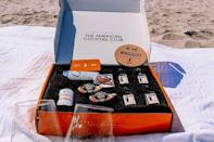 """<p><strong>$49 per month for a box with booze, $39 without </strong></p><p>Home mixologists will love this subscription box that delivers everything you need to make a <a href=""""https://www.goodhousekeeping.com/food-recipes/g28669841/best-classic-cocktails/"""" rel=""""nofollow noopener"""" target=""""_blank"""" data-ylk=""""slk:fancy cocktail"""" class=""""link rapid-noclick-resp"""">fancy cocktail</a> each month. Every box includes instructions and all of the ingredients for four servings of a craft cocktail. If your recipient already has a well-stocked home bar, there's a step-down option that includes just the mixers. </p><p><a class=""""link rapid-noclick-resp"""" href=""""https://go.redirectingat.com?id=74968X1596630&url=https%3A%2F%2Fwww.cratejoy.com%2Fsubscription-box%2Famerican-juice-company%2F%3Fcn%3D10%26pt%3Dcategory%26gs%3Dfood-subscription-boxes%26pn%3D1&sref=https%3A%2F%2Fwww.goodhousekeeping.com%2Ffood-products%2Fg5043%2Fbest-monthly-food-subscription-boxes%2F"""" rel=""""nofollow noopener"""" target=""""_blank"""" data-ylk=""""slk:BUY NOW"""">BUY NOW</a></p>"""