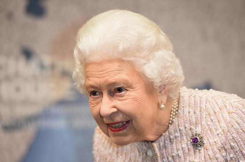Britain's Queen Elizabeth II attends the 2019 Chatham House Prizegiving event at Chatham House in central London on November 20, 2019. - The 2019 Chatham House Prize was awarded to British broadcaster and conservationist David Attenborough, and Head of the BBC's Natural History Unit, Julian Hector. (Photo by Eddie MULHOLLAND / POOL / AFP) (Photo by EDDIE MULHOLLAND/POOL/AFP via Getty Images)