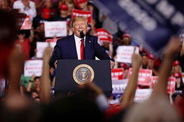 PHOTO: U.S. President Donald Trump rallies with supporters in Manchester, New Hampshire U.S. August 15, 2019. (Jonathan Ernst/Reuters)