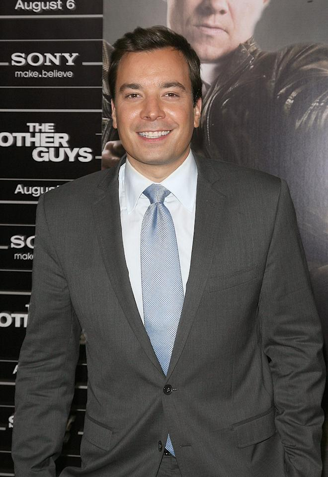 """<a href=""""http://movies.yahoo.com/movie/contributor/1802958143"""">Jimmy Fallon</a> at the New York City premiere of <a href=""""http://movies.yahoo.com/movie/1810116447/info"""">The Other Guys</a> - 08/02/2010"""
