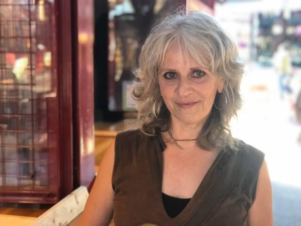 Musician Roxanne Delage will be busking in the ByWard Market for the first time this year. She's looking forward to performing songs she's written while in isolation during the COVID-19 pandemic.  (Krystalle Ramlakhan/CBC - image credit)