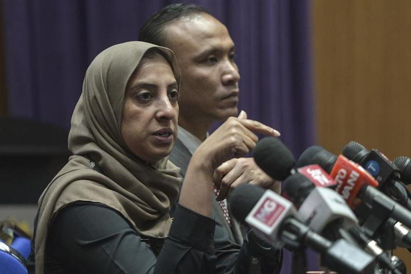 MACC chief commissioner Latheefa Koya speaks during a press conference in Putrajaya, October 18, 2019. ― Picture by Shafwan Zaidon