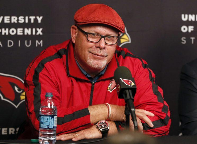 Bruce Arians isn't worried about terrorism in London. (AP)