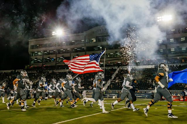 Nevada overcame a 31-14 third quarter deficit to shock Purdue with a last-second field goal. (Photo by Jonathan Devich/Getty Images)