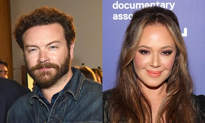Danny Masterson appeared in court in Los Angeles on rape charges. Leah Remini appeared to support the alleged victims.