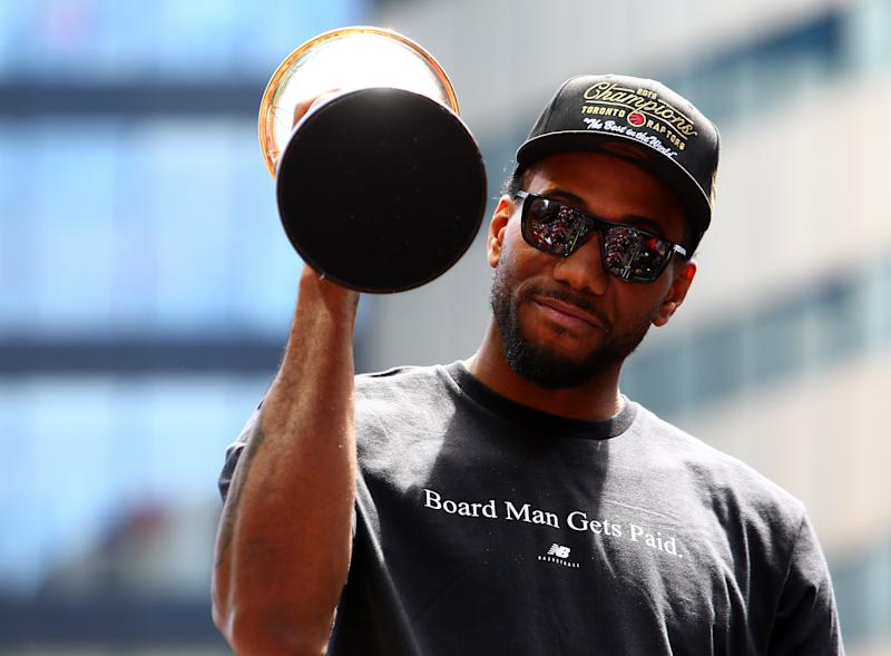 Kawhi Leonard will make his debut for the Clippers on the NBA's opening night, when his former Raptors teammates will host their championship ring ceremony. (Getty Images)