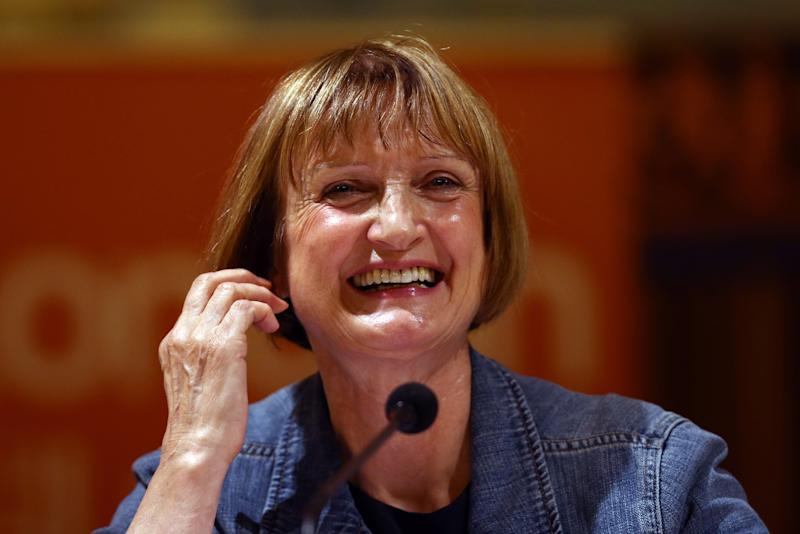Labour Party politician Tessa Jowell speaks during a Labour party mayoral hustings on July 30, 2015. (Photo by Carl Court/Getty Images)