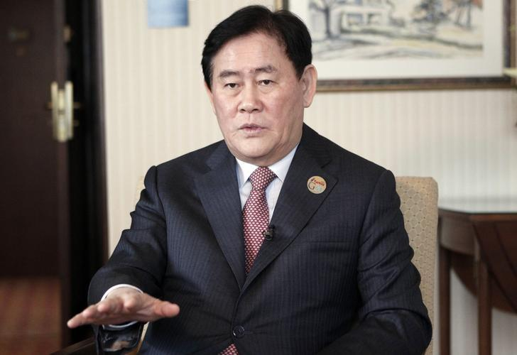 South Korea's Finance Minister Choi Kyung-hwan speaks during an interview before the G20 finance ministers and central bank governors meeting in Istanbul