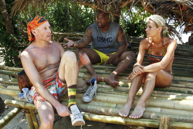 """Second Episode"" - Michael Snow, Shamar Thomas and Sherri Biethman of the Gota Tribe during the second episode of ""Survivor: Caramoan - Fans vs. Favorites."""