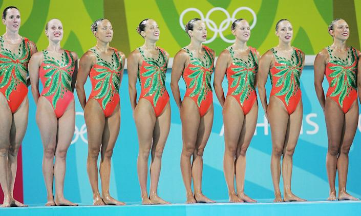 Athens 2004, Canadian synchronised swimmers (Getty Images)