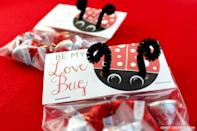 "<p>Share chocolate kisses with your Valentine by giving them these cute love bug cards. Just print out and add on the pipe cleaner antennae.</p><p><strong>See more at <a href=""https://www.ohmy-creative.com/holiday-crafts/valentines-day/printable-valentines-day-cards/"" rel=""nofollow noopener"" target=""_blank"" data-ylk=""slk:Oh My! Creative"" class=""link rapid-noclick-resp"">Oh My! Creative</a>.</strong></p><p><a class=""link rapid-noclick-resp"" href=""https://go.redirectingat.com?id=74968X1596630&url=https%3A%2F%2Fwww.walmart.com%2Fsearch%2F%3Fquery%3Dblack%2Bpipe%2Bcleaners&sref=https%3A%2F%2Fwww.thepioneerwoman.com%2Fhome-lifestyle%2Fcrafts-diy%2Fg35084525%2Fdiy-valentines-day-cards%2F"" rel=""nofollow noopener"" target=""_blank"" data-ylk=""slk:SHOP PIPE CLEANERS"">SHOP PIPE CLEANERS</a> </p>"