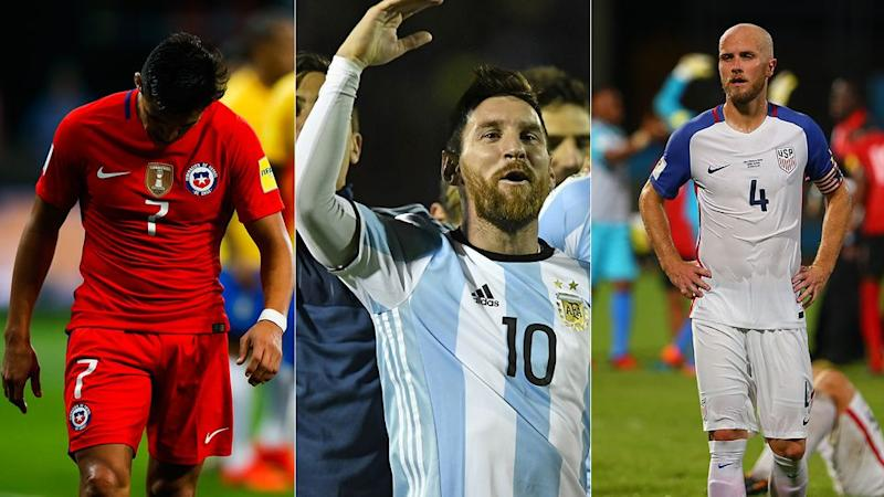 Agony for Chile and the USA, ecstasy for Argentina. Pic: Getty