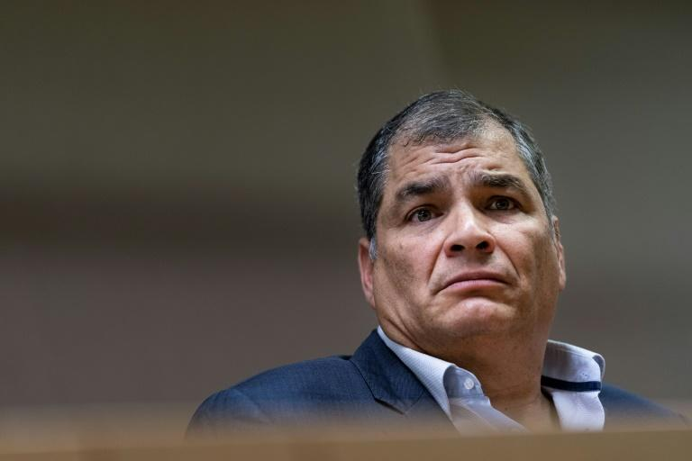 Ecuador's former president Rafael Correa, pictured in October 2019, claims he's the victim of political persecution
