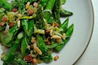 """<div class=""""caption-credit""""> Photo by: Sarah Shatz</div><div class=""""caption-title"""">Absurdly Addictive Asparagus</div>The recipe is supposed to serve 4, but we could easily imagine polishing off an entire pan by ourselves. - Amanda & Merrill <br> <i><b><a rel=""""nofollow noopener"""" href=""""http://food52.com/recipes/4023_absurdly_addictive_asparagus"""" target=""""_blank"""" data-ylk=""""slk:Get the recipe"""" class=""""link rapid-noclick-resp"""">Get the recipe</a></b>.</i> <br> <i><br></i>"""