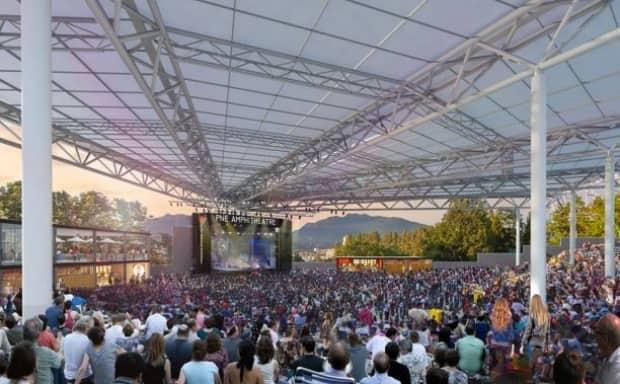 The report to city council included this artist rendering of what the upgraded PNE amphitheater might look like once completed. (City of Vancouver - image credit)