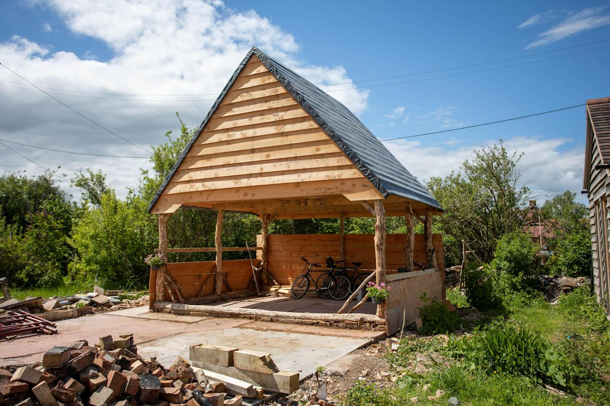 Rebecca Roseff designed a shed for horseshoe bats for their summer roost (Cuprinol Shed of the Year 2021/PA)