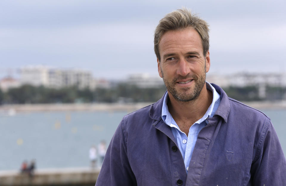 English adventurer, author, broadcaster and writer Ben Fogle poses during a photocall at the MIPCOM 2015 (International Film and Programme Market for Tv, Video,Cable and Satellite) in Cannes, southeastern France, Tuesday, Oct. 6, 2015. He presents the six part series 'The big catch'. (AP Photo/Lionel Cironneau )