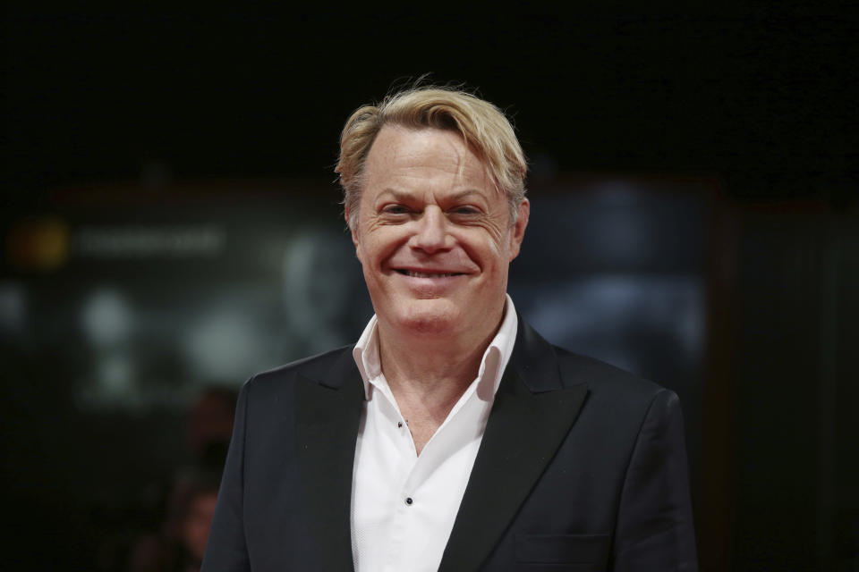 Actor Eddie Izzard poses for photographers at the premiere of the film 'Victoria and Abdul' during the 74th edition of the Venice Film Festival in Venice, Italy, Sunday, Sept. 3, 2017. (Photo by Joel Ryan/Invision/AP)