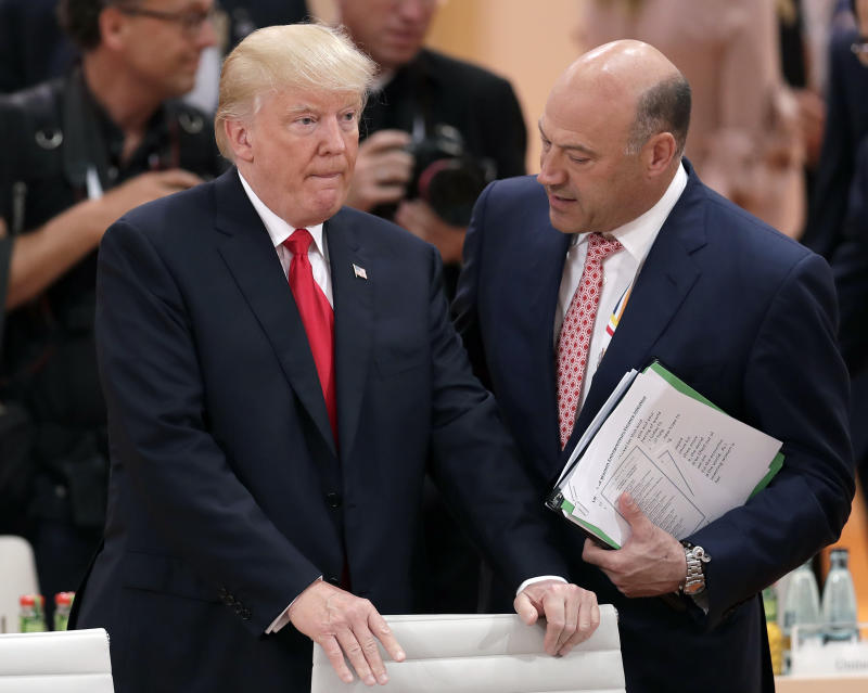 White House chief economic adviser Gary Cohn with President Trump