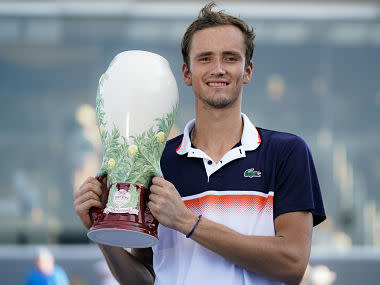 Cincinnati Masters: Third time's a charm for Daniil Medvedev as he beats David Goffin in straight sets to clinch trophy