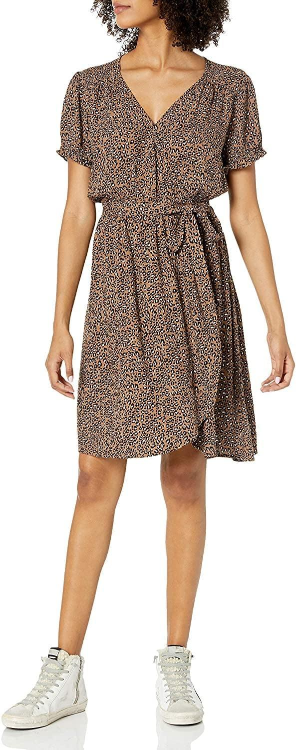 <p>If you're all about animal print, then this fun <span>Goodthreads Relaxed Fit Fluid Twill Faux Wrap Dress</span> ($35) is perfect.</p>