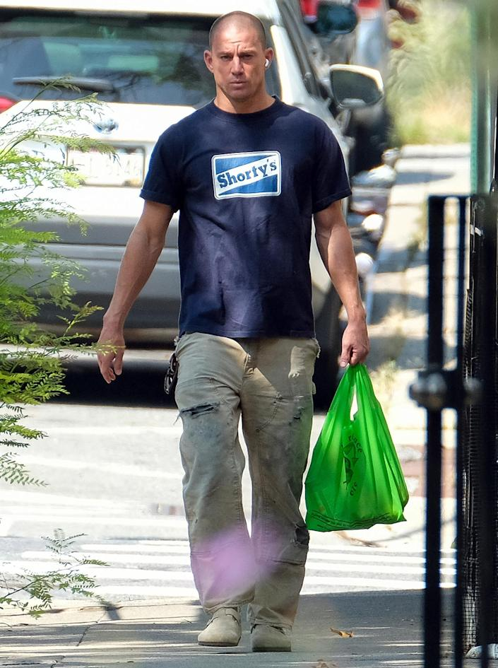 <p>Channing Tatum wears a casual outfit while out in N.Y.C. on Sept. 14. </p>