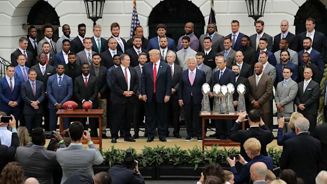 The Patriots say a viral New York Times' photo of their trip to the White House Wednesday doesn't tell the whole truth.