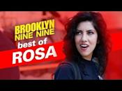 "<p><strong>Played by:</strong> Stephanie Beatriz</p><p>The actress and fans campaigned for Rosa to have a girlfriend, and the sitcom came through! She's had love interests on the show played by Gina Rodriguez, Cameron Esposito, Nick Cannon <em>and </em>Jason Mantzoukas, which is basically iconic.</p><p><a href=""https://www.youtube.com/watch?v=Cr8N3xwvonY"" rel=""nofollow noopener"" target=""_blank"" data-ylk=""slk:See the original post on Youtube"" class=""link rapid-noclick-resp"">See the original post on Youtube</a></p>"
