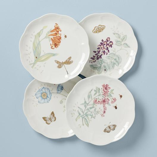 Lenox Butterfly Meadow Gold Accent Plate Set