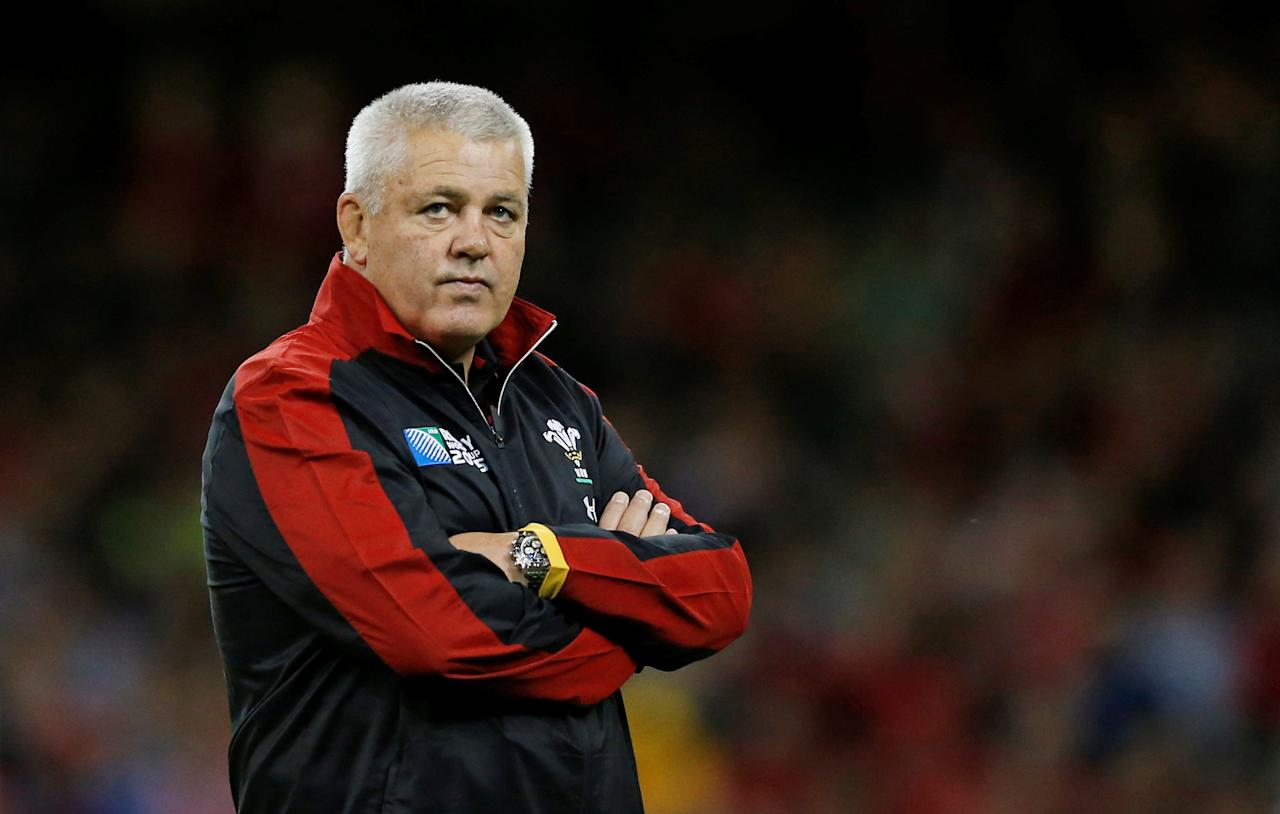 FILE PHOTO: Rugby Union - Wales v Uruguay - IRB Rugby World Cup 2015 Pool A - Millennium Stadium, Cardiff, Wales - 20/9/15.  Wales head coach Warren Gatland before the match. Action Images via Reuters/Andrew Boyers/Livepic/File Photo