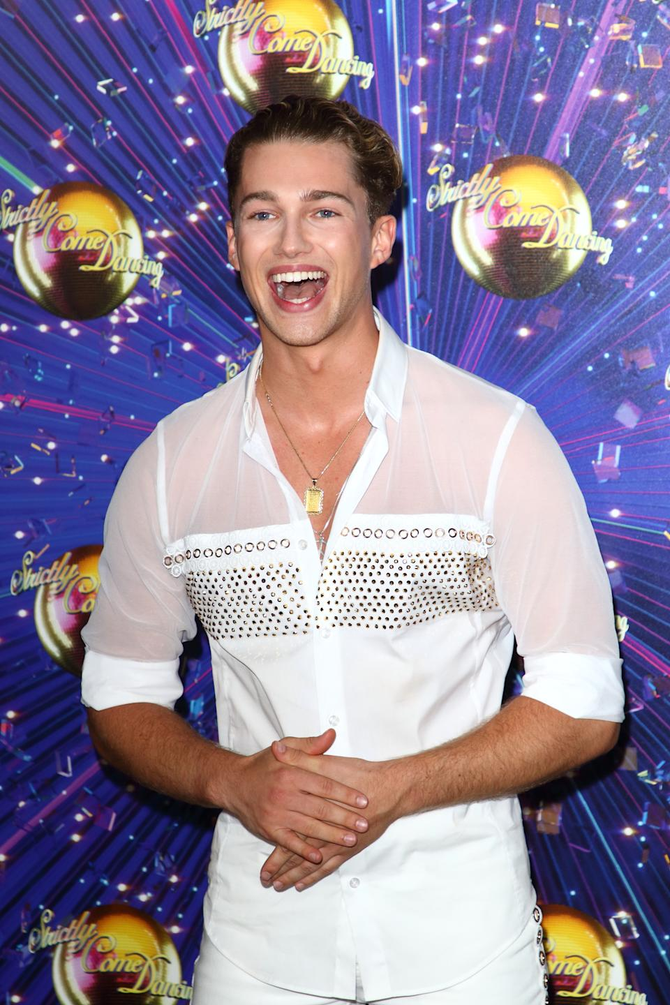 LONDON, UNITED KINGDOM - 2019/08/26: AJ Pritchard at the Strictly Come Dancing Launch at BBC Broadcasting House in London. (Photo by Keith Mayhew/SOPA Images/LightRocket via Getty Images)