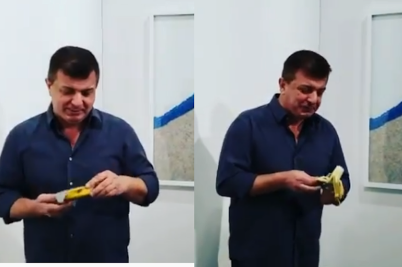 Somebody Just Ate the Banana Duct Taped to a Wall Worth Rs 85 Lakh